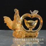 琉璃生肖雞擺件公司年會商務禮品開業上市饋贈團購定做平安大吉