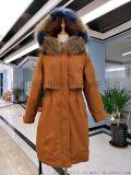 品牌折扣女裝新款雪羅拉羽絨服批發