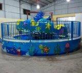 別緻風景線藍色主題 兒童遊樂設備鄭州隆生海洋魔盤