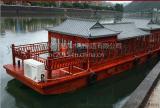 電動木船賣定製山東泰山木船畫舫餐飲木船