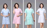 護士服短袖湖藍領冬夏款西裝領白大褂美容服藥店藥房工作服