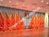 多功能廳舞臺會議紅旗 禮堂會議旗幟 十面紅旗