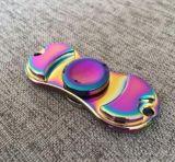 歐美炫彩指尖陀螺發光edchand fidget spinner 帶燈炫彩夜光版發亮熒光帶led燈指間玩具鋁合金