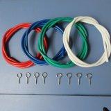 廠家直銷白色PVC包塑彈簧窗簾繩
