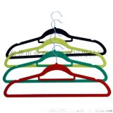 廠家批發 優質低價 防滑多功能植絨衣架 晾曬衣架