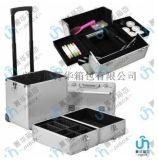 廠家直銷萬向輪拉桿行李箱手提包旅行箱大鋁合金化妝箱JH569