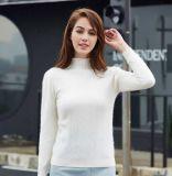 貴羣羊絨 羊絨衫定製 批發 新款女士白色套頭羊絨衫 針織衫 羊毛衫