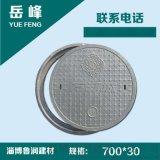 綠化井蓋複合樹脂井蓋蓋板窨井蓋直徑700*30mm 黑色