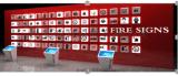 民安教育  消防標識燈箱牆