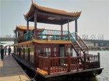 山東河北湖南哪余有傳統中式電動船 景區畫舫遊船 水庫景觀旅遊木質船