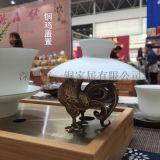 雞年新品上市 銅雞蓋置 茶寵銅擺件