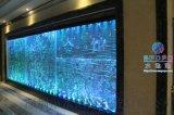 會所酒樓訂做水舞靈動泡泡牆、風水隔斷屏風、水幕簾屏風牆