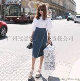 日韓夏季新款 甜美露肩一字領 純色中袖/五分袖中長款襯衫上衣