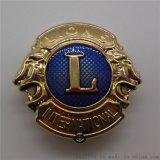 供應定製純銅獅子會徽章插扣皮帶頭金屬徽章優質廠家