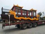 湖南重慶河北哪余有畫舫龍船 玉雕龍畫舫船 景區旅遊觀光船
