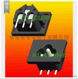 HUACONN/東莞華琴 AC電源插座 梅花插座 ac輸入插座 ac梅花插座