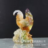 琉璃工藝品家居裝飾高檔琉璃藝術品生肖雞擺件開業禮品富貴吉祥