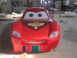 玻璃鋼動漫車雕塑 樹脂兒童卡通玩具車擺設廠家