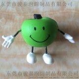 廠家生產慢回彈蘋果PU發泡公仔 PU卡通公仔 PU兒童玩具公仔