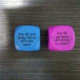 東莞田豐橡塑 聚氨酯PU發泡廣告禮品海綿骰子 定製LOGO及標語