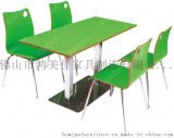 員工餐桌椅,四人位分體員工餐桌椅廣東鴻美佳廠家定製