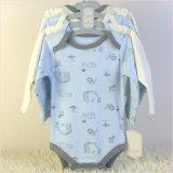 嬰兒長袖三角哈衣四件套純棉秋冬款