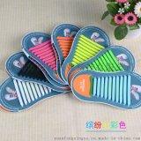 韓版創意時尚彩色矽膠鞋帶 夜光免綁懶人鞋帶運動休閒免繫鞋帶