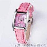 新款高檔簡約防水方形不鏽鋼女士腕錶三針石英貝母面廠家定製批發
