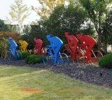 玻璃鋼運動人物剪影雕塑,剪影雕塑擺件,適用於學校、廣場等場所