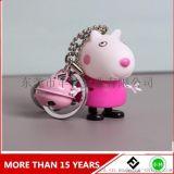 小豬佩奇鈴鐺鑰匙扣包包掛件