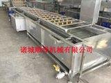 廠家直銷 順澤牌6000型快速解凍線 雞翅雞腿解凍流水線 常溫解凍304不鏽鋼材質