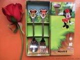 迪士尼食具叉勺套裝不鏽鋼食具兩件套創意家居促銷禮品定製logo