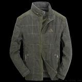 男式夾克 夾克批發 男士休閒水洗純棉寬鬆立領外套