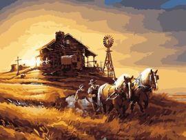 數位風景油畫