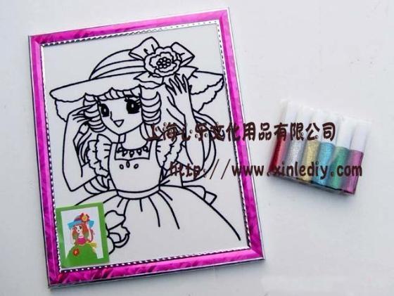 儿童环保手工玩具金粉画