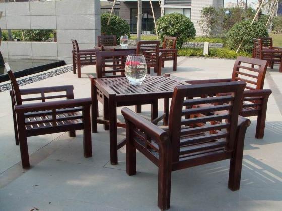 户外木制休闲桌椅(ac-wf02)图片