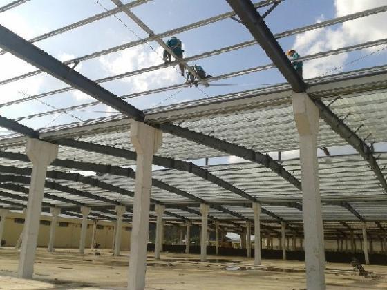 有机肥发酵堆场钢结构屋面工程