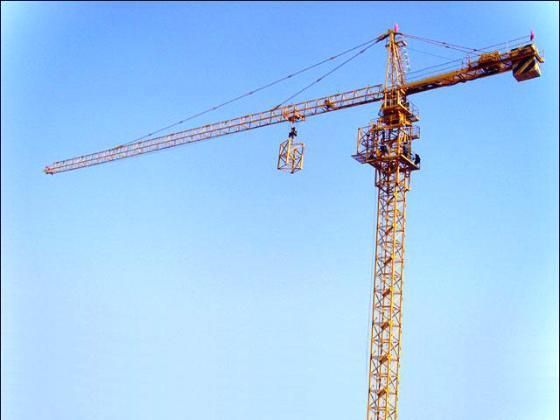 中国动臂式塔吊图片