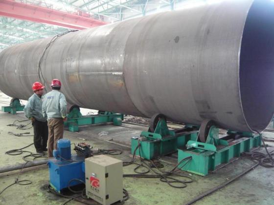公司在风电塔筒自动焊接设备领域深有研究,已成为风电塔筒高效化自动