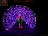 扇子造型燈,孔雀圖案燈,燈光節奔馬造型燈