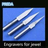 硬質合金鎢鋼雕刻銑刀 CNC 尖刀1-6MM