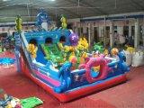戶外大型兒童遊樂設備海底世界充氣滑梯蹦跳牀城堡