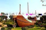 千年舟木船【陸地景觀船】深圳大型景觀船製造