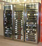 酒店餐廳不鏽鋼酒櫃 恆溫紅酒櫃加工廠 定製不鏽鋼酒架生產商