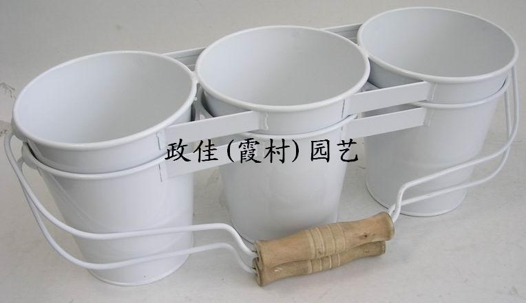 多肉植物裝飾桶,雙層吊掛式鐵皮花桶,家居裝飾白鐵皮裝水花插