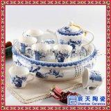 景德鎮陶瓷功夫茶具套裝家用高檔中式青花瓷蓋碗茶壺套裝