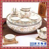 陶瓷整套功夫茶具家用辦公簡約隔熱雙層防燙茶具套裝