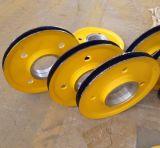 河南滑輪廠家 起重機滑輪組  80t鑄鋼滑輪 吊鉤動滑輪 抓鬥定滑輪 吊車滑輪組