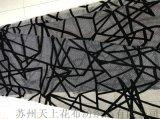 中東流行圍巾花型國外定製款錦絨印花布蘇州工廠按需定製