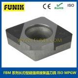 cbn焊接刀片 立方氮化硼超硬數控刀片 富耐克數控刀具FBM6100刀粒